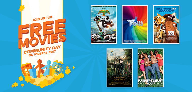 On Community Day, join us for FREE movies!