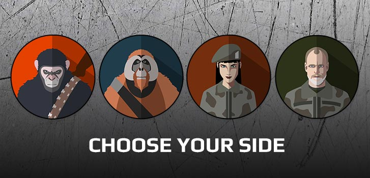 Choose your side in the War for the Planet of the Apes with TimePlay, for a chance to win!