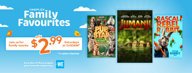 Cineplex Family New Movies Schedule For May & June, Watch a Film for Only $2.99