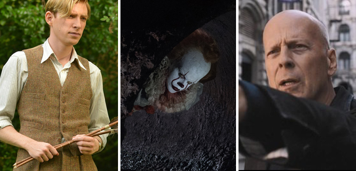 IT, Death Wish, and Goodbye Christopher Robin all get new trailers in today's movie news!
