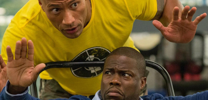 dwayne johnson, kevin hart, central intelligence, photo
