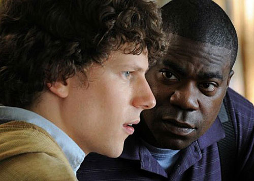 why stop now, jesse eisenberg, tracy morgan