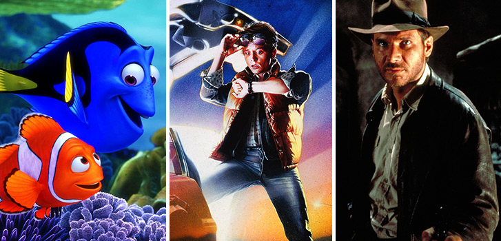 Finding Nemo, Back to the Future, Indiana Jones, photo