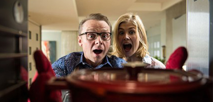 Simon Pegg and Rosamund Pike staring Hector and the Search for Happiness (photo)