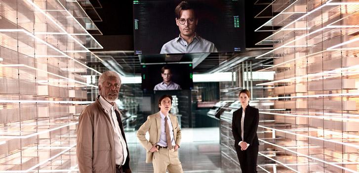 Wally Pfister's Transcendence starring Morgan Freeman, Cillian Murphy, Johnny Depp and Rebecca Hall, photo