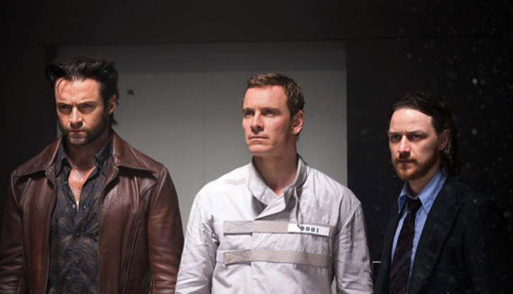 Jackman, Fassbender, McAvoy: On the set of X-Men: Days of Future Past