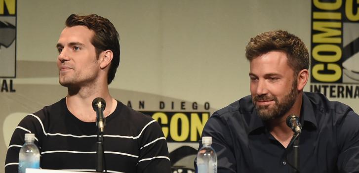 Henry Cavill, Ben Affleck, Batman v. Superman, Comic-Con, photo