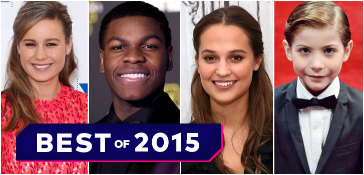 Breakout stars of 2015, Brie larson, JohnBoyega, Alicia Vikander, photo