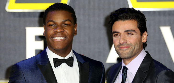 John Boyega, Oscar Isaac, Star Wars: The Force Awakens, photo