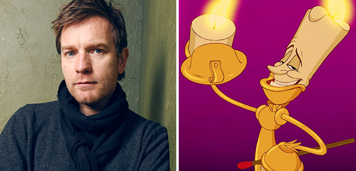 Ewan McGregor, Lumiere, Beauty and the Beast, photo
