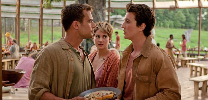 Theo James, Shailene Woodley, Miles Teller, Insurgent, photo