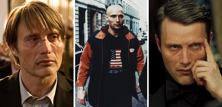 Mads Mikkelsen's top 10 film roles, the hunt, Pusher, Casino Royale, photo