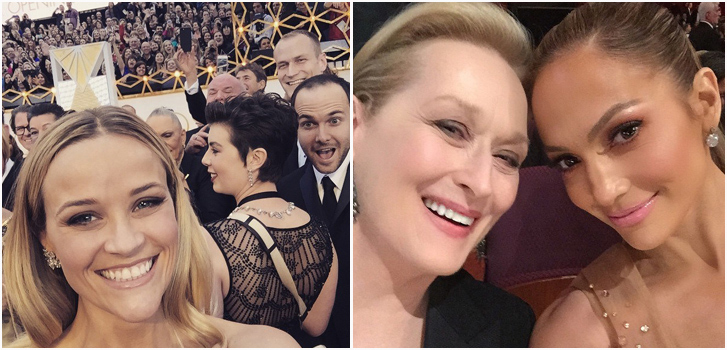 Reese Witherspoon, Meryl Streep, jennifer Lopez, Instagram Oscars, photo