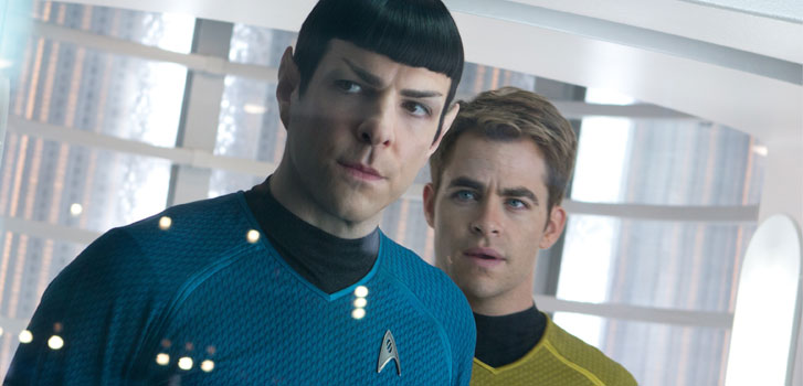 Zachary Quinto, Chris Pine, Star Trek Beyond trailer, photo