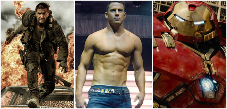 Mad Max Fury Road, magic Mike XXl, Avengers Age of Ultron, photo