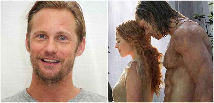 Alexander Skarsgard, Margot Robbie, Tarzan, photo