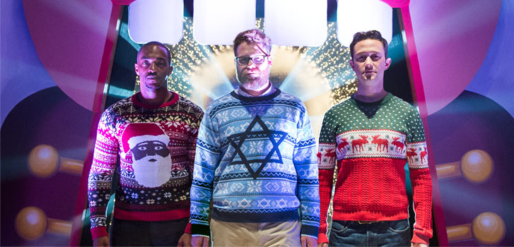 Anthony Mackie, Seth Rogen, Joseph Gordon-levitt, The Night Before, photo