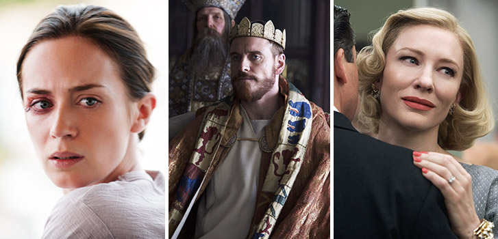 Emily Blunt, Sicario, Michael Fassbender, Macbeth, Cate Blanchett, Carol, Photo
