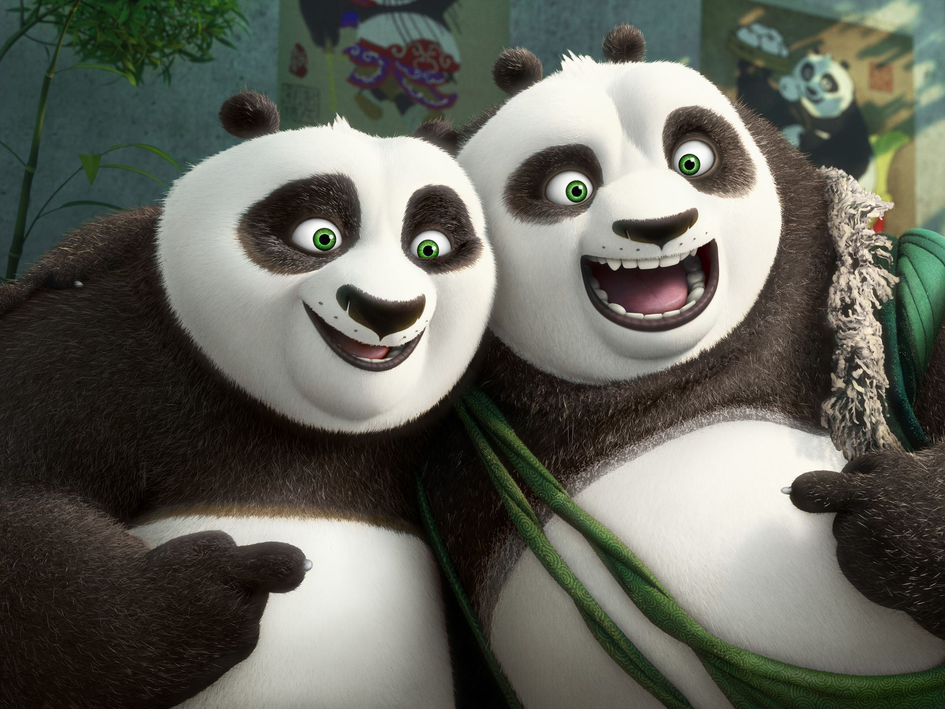 Kung Fu Panda 3, Po, Li, Bryan Cranston, Jack Black, photo