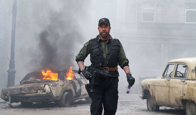 The Expendables 2, Chuck Norris