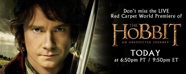 Watch The Hobbit world premiere red carpet LIVE from New Zealand!