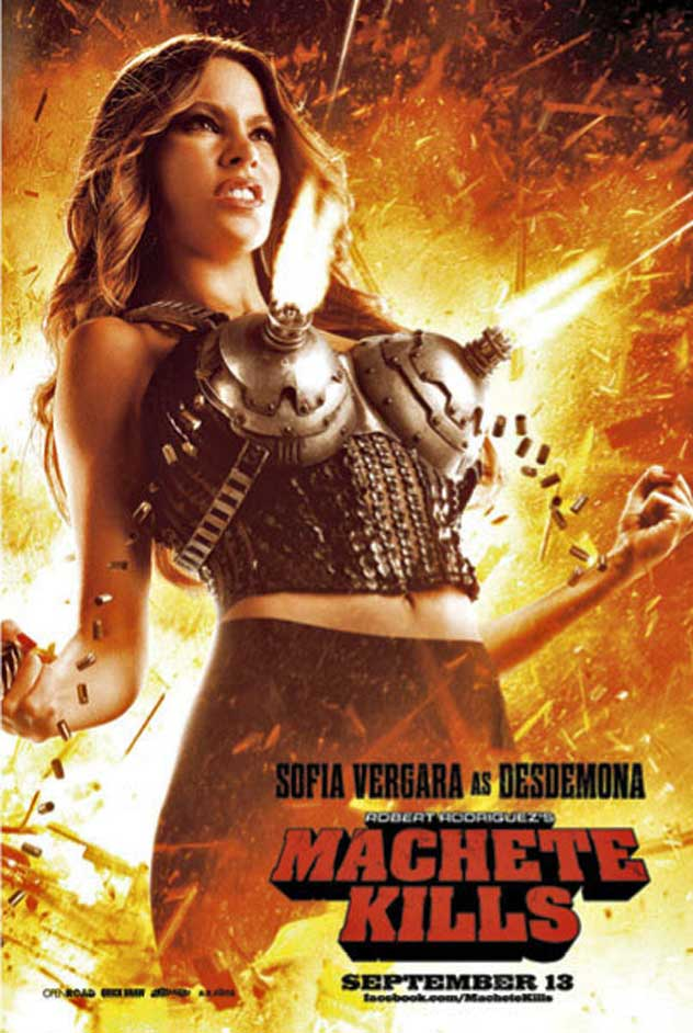 Sofia Vergara gets something off her chest in Machete Kills poster