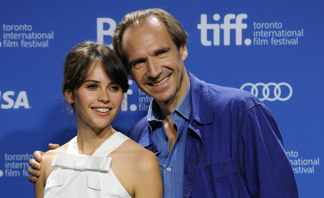 Felicity Jones, ralph Fiennes, The Invisible Woman press conference photo