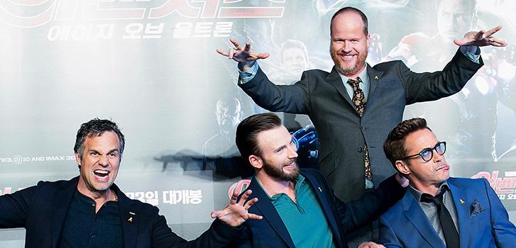 Mark Ruffalo, Joss Whedon, Chris Evans, Robert Downey Jr., Photo