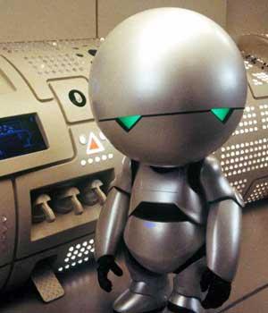 Image result for marvin depressed robot