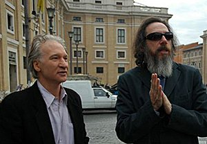 Bill Maher and Larry Charles