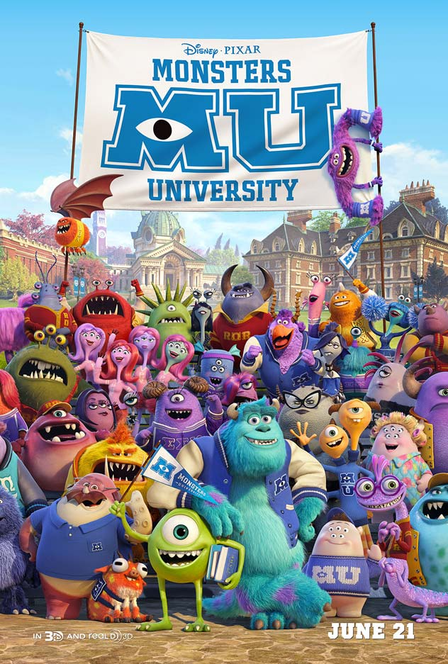 EXCLUSIVE: Sulley and Mike make friends in this brand new Monsters University poster