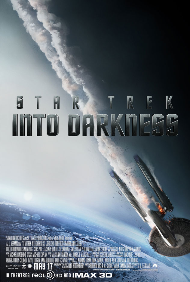 Red alert! The Enterprise is in major trouble in the latest Into Darkness poster