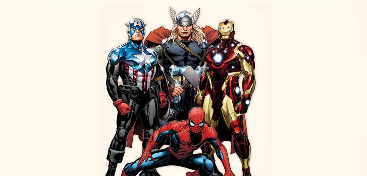 thor captain america iron man spiderman marvel