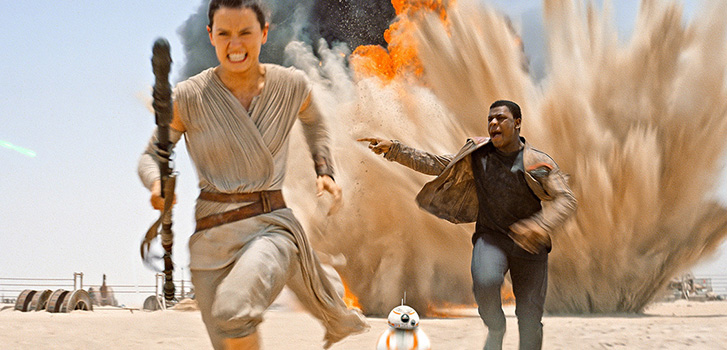 daisy ridley, john boyega, star wars: the force awakens, photo