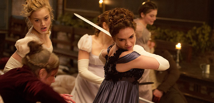 pride and prejudice and zombies, lily james, image
