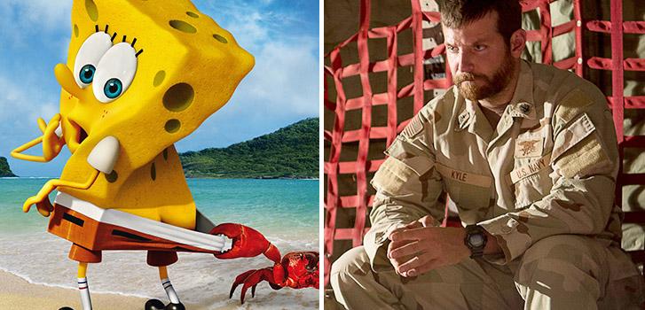 Spongebob, American Sniper, photo