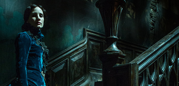 Go behind the scenes of Crimson Peak with Tom Hiddleston and Jessica Chastain