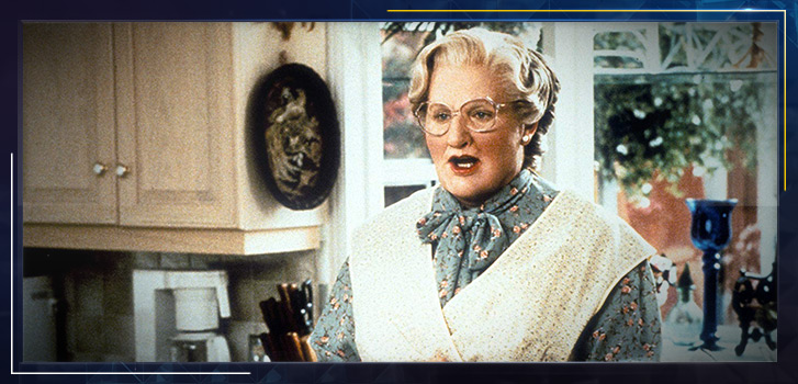 Luck be a Lady! It's the 25th anniversary of Mrs. Doubtfire!