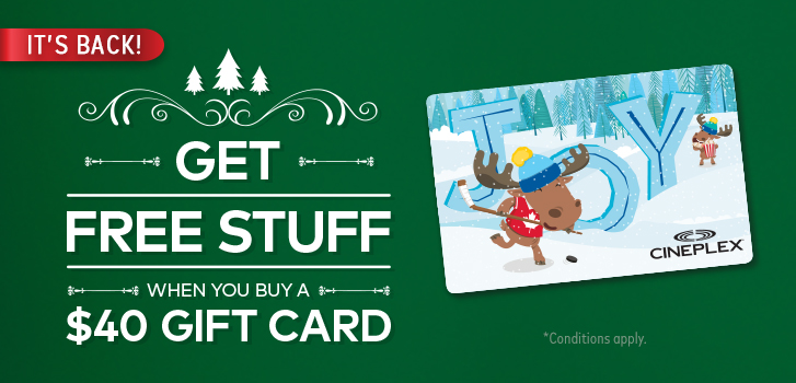 Cineplex cineplex news spend 40 or more on gift cards and spend 40 or more on gift cards and get a free holiday gift bundle negle Images