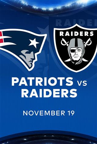 PATRIOTS at RAIDERS - NFL Sunday Nights at Cineplex