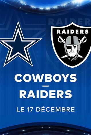 COWBOYS contre les RAIDERS – Les Dimanches soirs NFL chez Cineplex