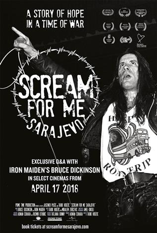 Scream for Me Sarajevo including Exclusive Q&A with Iron Maiden's Bruce Dickinson (English and Bosnian w/e.s.t.)