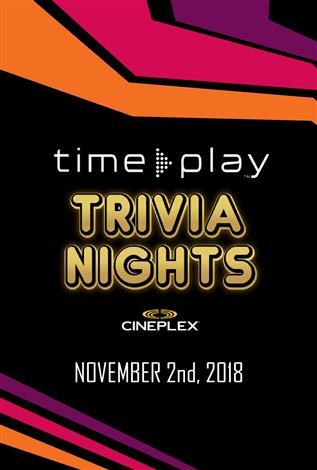 TimePlay Trivia Nights at Cineplex