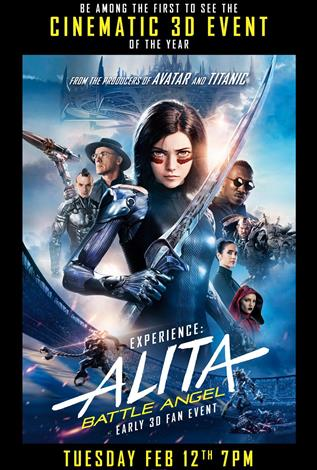 Alita: Battle Angel - Early IMAX 3D Fan Event