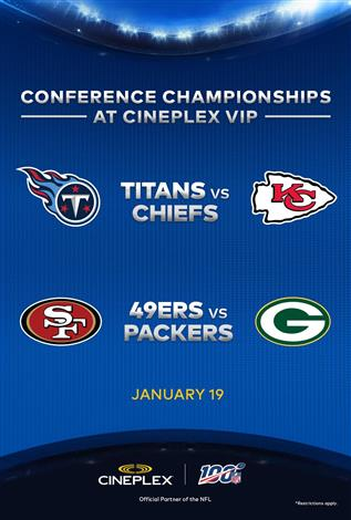 AFC & NFC  CONFERENCE FINALS - NFL at Cineplex