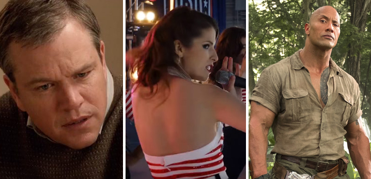 Downsizing, Pitch Perfect 3 and Jumanji: Welcome to the Jungle top our What to Watch weekend preview