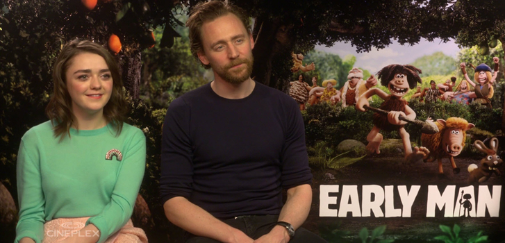 Tom Hiddleston, Maisie Williams and Nick Park on making history in Early Man