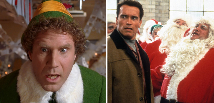 will ferrell, elf, arnold schwarzenegger, jingle all the way, santa, santa claus, movies