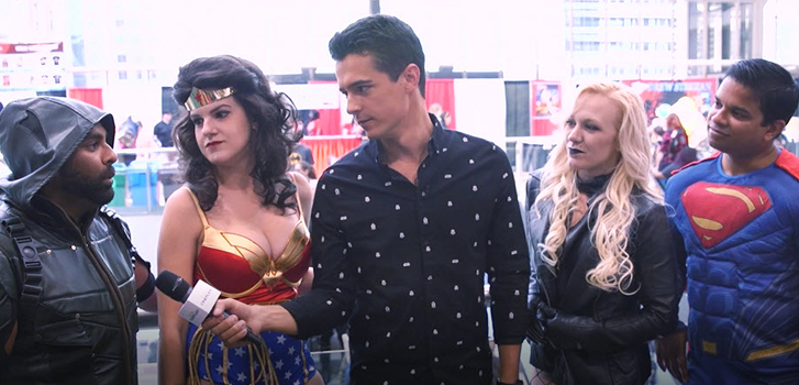 fan expo, justice league, batman, superman, wonder woman, movie, film, tanner zipchen, interview, cineplex, video,