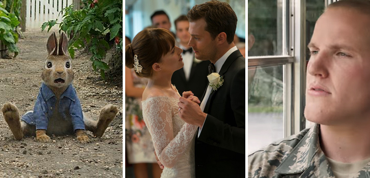 Peter Rabbit, Fifty Shades Freed and The 15:17 to Paris top our What to Watch weekend preview